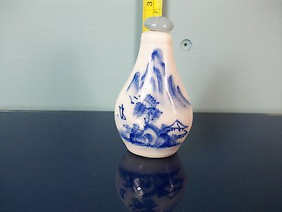 Vintage Decorated Chinese Scent/Snuff Bottle with Stopper/Dipper