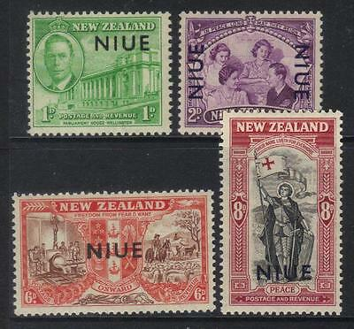 Niue 1946 Peace U/m Set Of 4