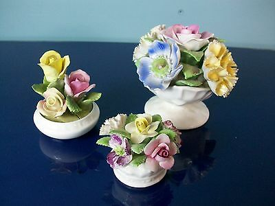 Three Small Porcelain Posy's by Royal Doulton, Coalport and Royal Stratford