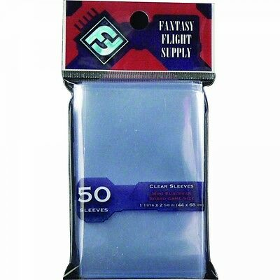 Fantasy Flight Supply Mini European Board Game 50 Sleeves Red (10 Pack)