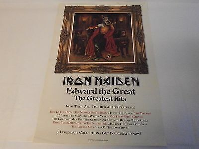 IRON MAIDEN memorabilia EDWARD THE GREAT UK In Store Promo Poster N MINT