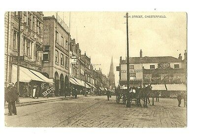 Chesterfield - a printed photographic postcard of High Street