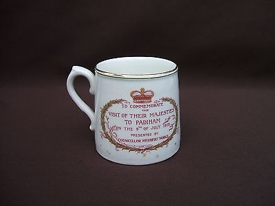 Old Grimwade's Winton King George V & Queen Mary Visit to Padiham Mug July 1913