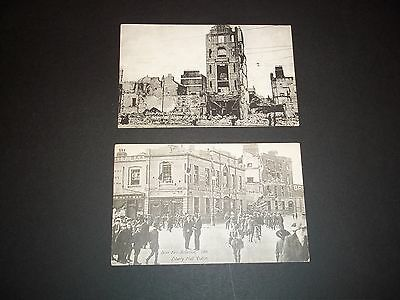 1916 Rising Easter Rebellion Postcards Valentine Series Two Cards Unused.