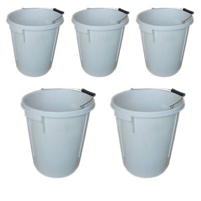 5 x 25L PLASTERERS MIXING BUCKET 25 LITRE PLASTERING BUILDERS WATER TUB HANDLE