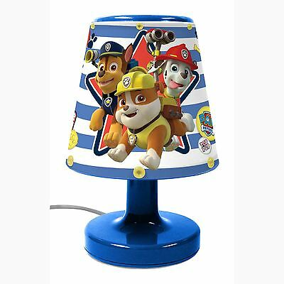 Official Paw Patrol Bedside Lamp Light Kids Bedroom - Childrens Lighting