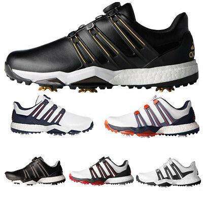 """NEW 2017"" Adidas Golf Mens Powerband Boa Boost WD Golf Shoes Fitfoam Waterproof"