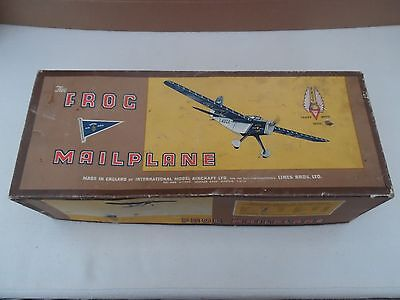Frog Mailplane Flying Model Aeroplane Pre War Monoplane Very Rare Boxed Plane