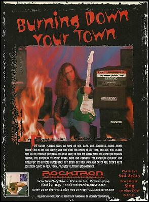 Neil Zaza 1996 Sing Rocktron Piranha Preamp ad 8 x 11 advertisement