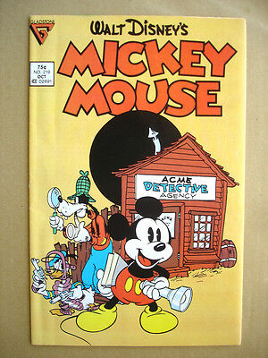 Mickey Mouse # 219 Gladstone Copper age comic 1986 VERY NICE 9.2 NM-!