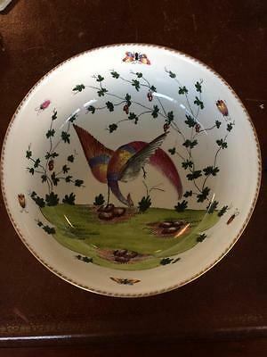 Large Decorative Early 19thC Hand Painted Inside & Outside Fine Porcelain Bowl