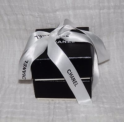 2 Empty CHANEL Jewelry Gift Boxes Box with Ribbon for Earrings Necklace Etc B/W