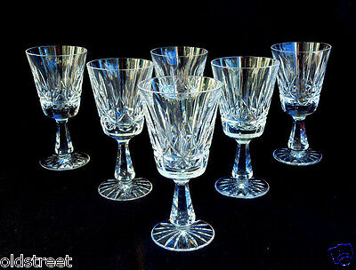 6 Beautiful Waterford Crystal Claret Wine Glasses ~ Rosslare