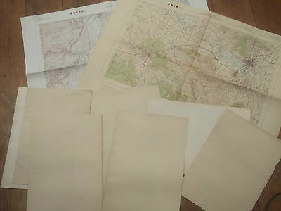 Australia, 10 Vintage Maps, Military Issue, New South Wales / Sydney