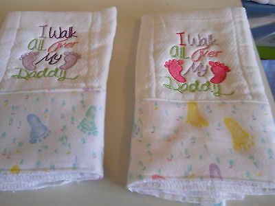 Personalized Embroidered Baby Burp Cloth Sayings-Set of 4 choice boy or girl