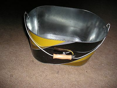 Strongbow Cider Metal Ice Bucket With Wooden Handle