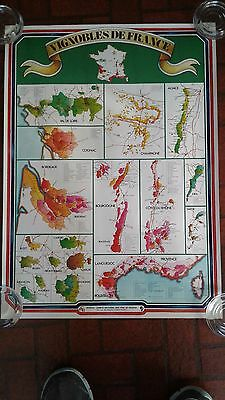 Vintage Advertising Vignobles De France Wine Poster