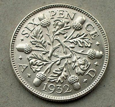 British - 1932 George V Sixpence - Bright Uncirculated