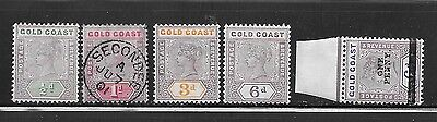 Gold Coast 1898-1901 issues
