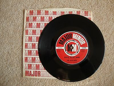 "The Dubliners ~ BLACK VELVET BAND ~ 7"" SINGLE 1967 FIRST PRESS A1/B1"