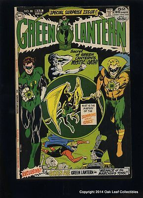 Green Lantern 88 DC Comic Book 1972 VF