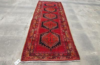 3'8X8'9 hand knotted tribal Persian Rug Vintage Woolen  Oriental Carpet  55
