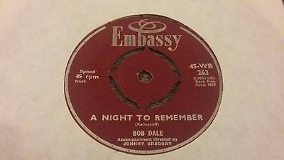 """Embassy Records """" A Night To Remember 1957 """" Ex Vintage 45 Rpm"""