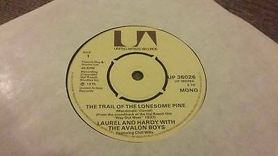 """Laurel And Hardy """" The Trail Of The Lonesome Pine """" Ex Vintage 45 Rpm"""