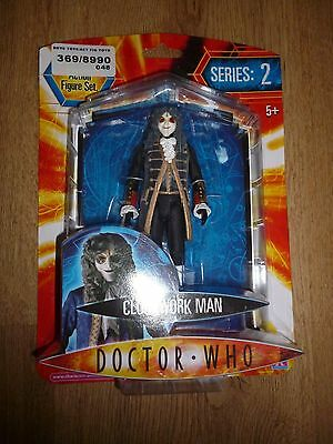 Doctor Who Series 2 Clockwork Man black outfit Action Figure New on card RARE **