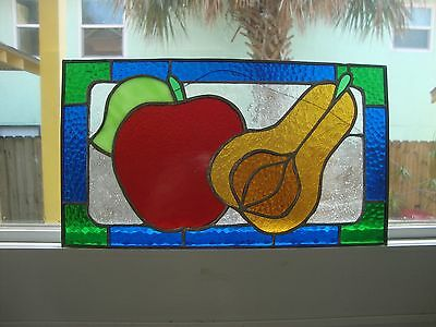 Stained Glass Fruit Piece Home Made