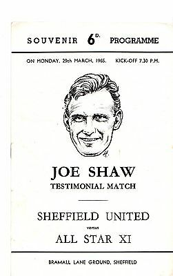 1964-1965 Sheffield United v All Star XI Joe Walsh Testimonial