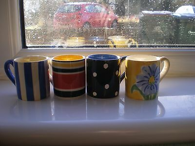 Lovely Set of Four Whittard of Chelsea Hand Painted Espresso Cups