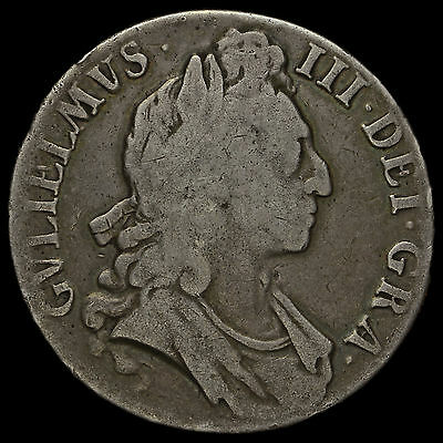1695 William III Early Milled Silver Octavo Crown – A/F