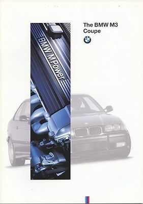 1995 BMW M3 Coupe Brochure my8164