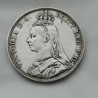 Silver Crown Queen Victoria Dated 1889