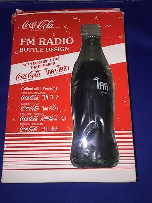 RARE!!!!!New Vintage Coca Cola FM RADIO WITH ENGLISH & THAI TRADEMARKS