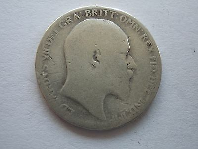 1904 Edward Vii Silver Sixpence - Uk Post Free
