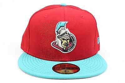 los angeles 95bf7 defe7 Ottawa Senators Scarlet Red Light Blue Gold Silver New Era 59Fifty Fitted  Hat
