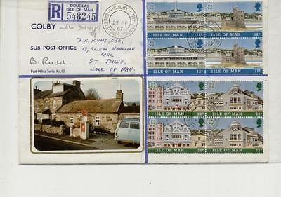 Isle of Man 1987 Colby Post Office Cover, Signed by Post Mistress & Registered