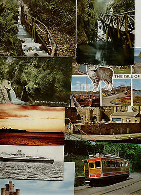 Isle of Man 10 Assorted Used Postcards, 1904 to 1980's