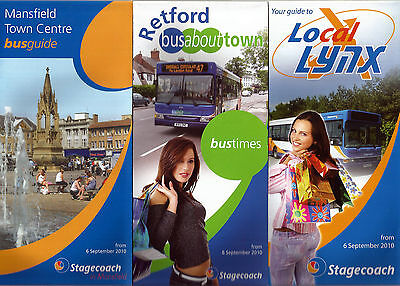 Stagecoach East Midlands Area Timetable folders - 2010
