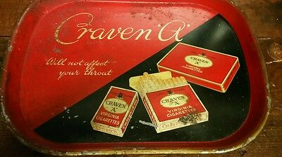 Craven A 1940's Black Backed Beer Tray
