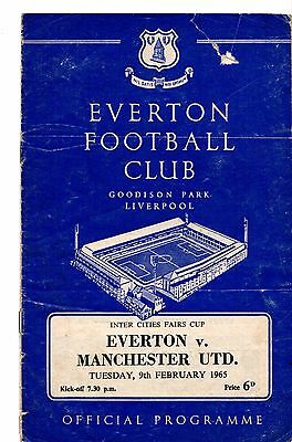 1964-1965  Everton v Manchester United Fairs cup