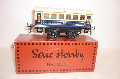 HORNBY SERIE O gauge VOITURE RESTAURANT COACH - BLUE/CREAM - BOXED