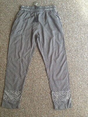 next grey patterned trousers age 11 years bnwt