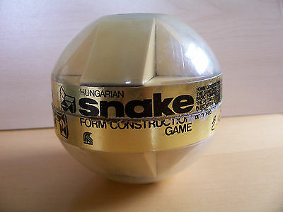 Vintage 1980`s Palitoy Rubiks Hungarian Snake Toy Game in Original Plastic Box.