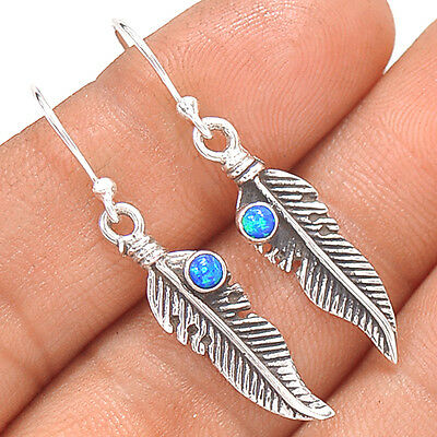 Native American Reproduction - Fire Opal  Sterling Silver Earring  SE140323