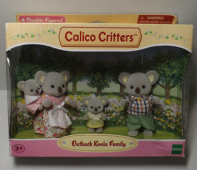 CALICO CRITTERS 4 Posable OUTBACK KOALA FAMILY Figures EPOCH Ages 3+ NEW