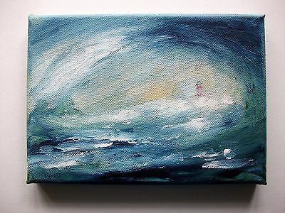 Original Acrylic Painting On Canvas The Sea By Ann Marie Whitton Seascape