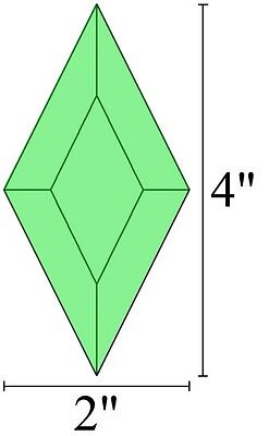2x4 Diamond Stained Glass Bevels - GREEN (5)